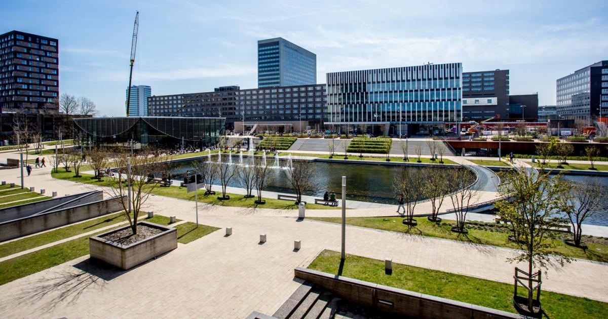 Campus vanaf Erasmusgebouw gezien